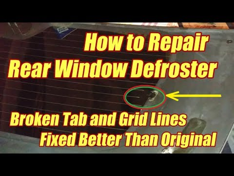 Repair Rear Window Defroster Tab And Grid - Better Than Original