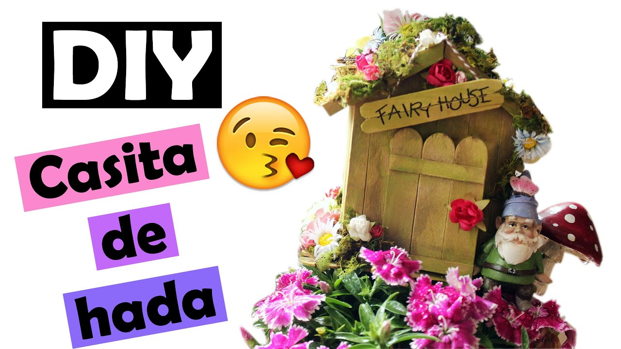 Diy casita de hada youtube for Casita para jardin