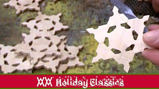 How to make wooden snowflakes by the dozens!