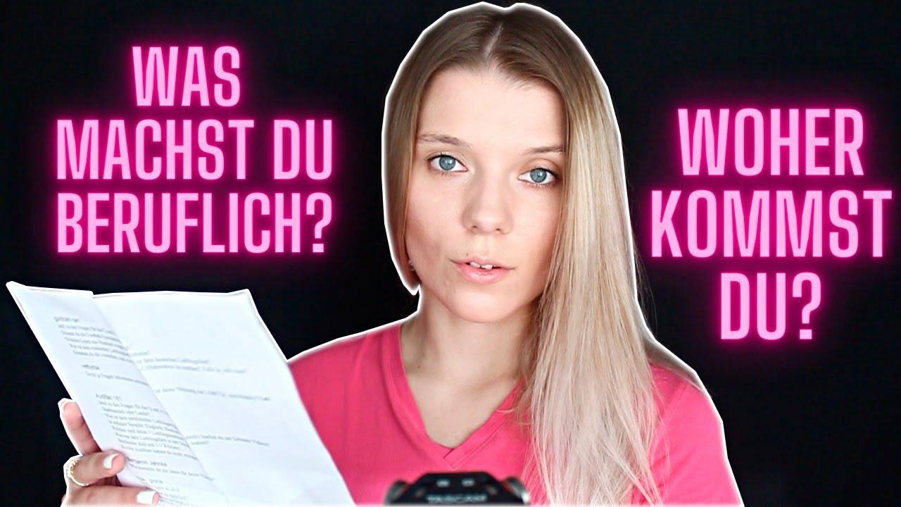 German ASMR Wo arbeite ich? Fragen und Antworten