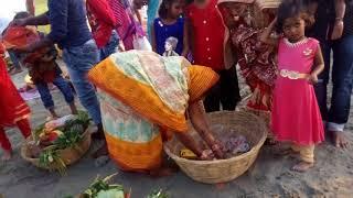 Chapra ke ghat par chhath karte huy(1)