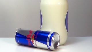 Red Bull and Milk Experiment