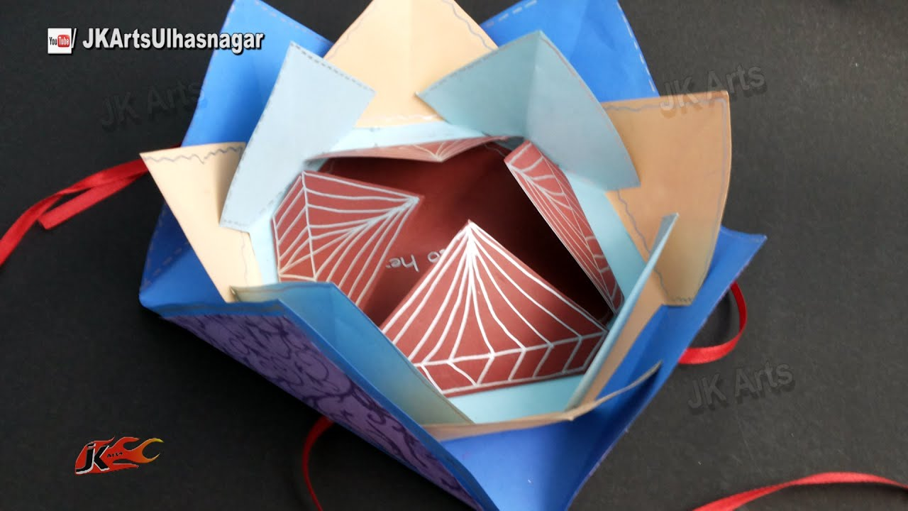 How to make scrapbook with construction paper - Multi Fold Scrapbook Tutorial How To Make Love Scrapbook Jk Arts 910 Youtube