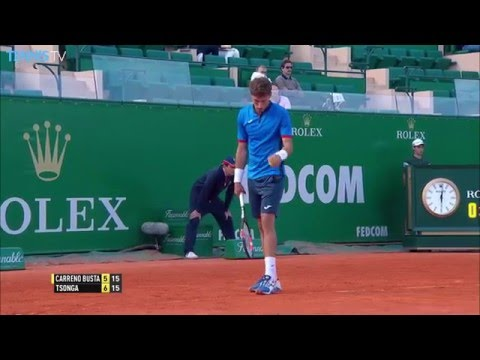 Carreno Busta Forehand Monte-Carlo 2016 Hot Shot