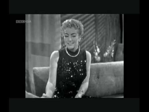 Joan Crawford First Ever TV Interview  1956