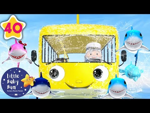 Wheels on The Bus Underwater | Underwater Bus | +More Nursery Rhymes & Kids Songs | Little Baby Bum