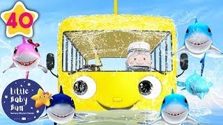 Wheels on The Bus Underwater | Underwater Bus | +More Nursery Rhymes & Kids Songs | Little Baby Bum
