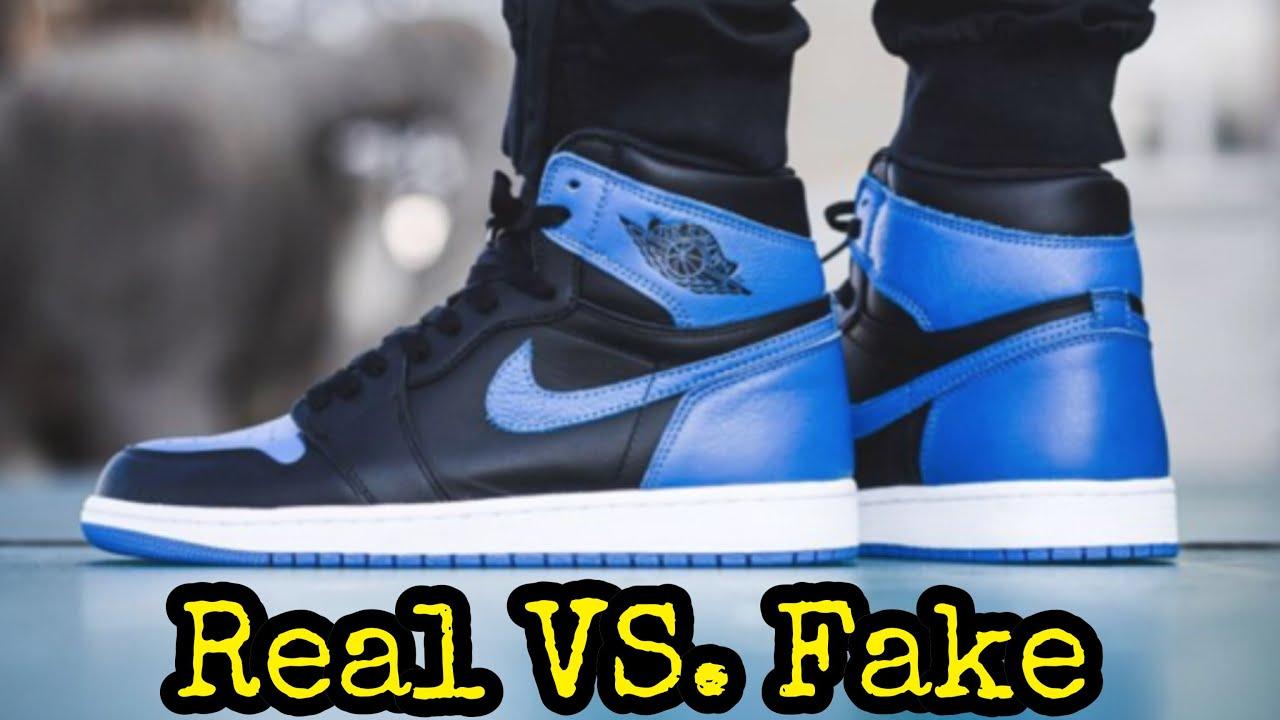 "04cb9872dae BEST Real vs. Fake // Jordan 1 ""Royal 2017"" - YouTube"