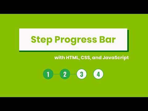 Build A Step Progress Bar With HTML, CSS, And JavaScript