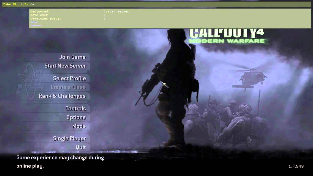 How to be in host in cod4 mac
