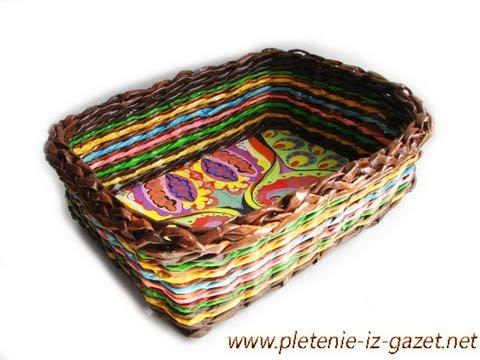 ▬► Como hacer las paredes de una cesta