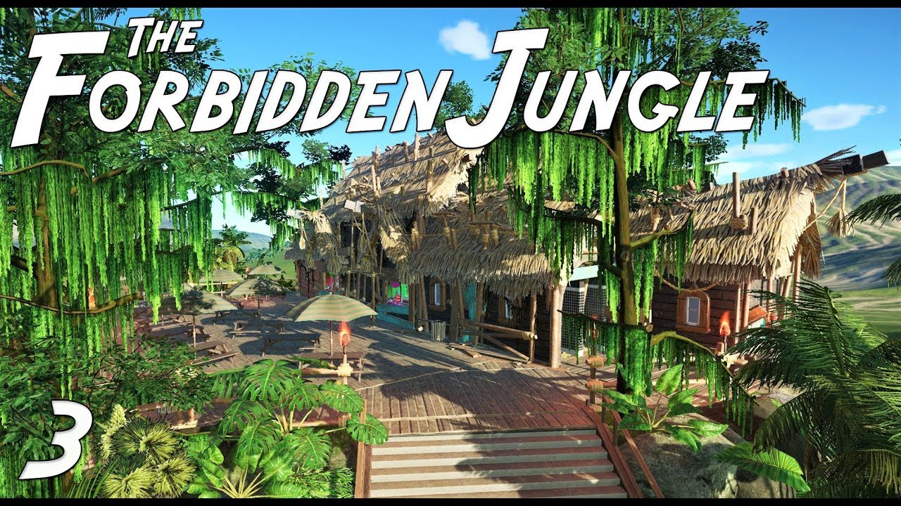 the forbidden jungle adventure planet coaster ep 3 jungle restaurant youtube. Black Bedroom Furniture Sets. Home Design Ideas