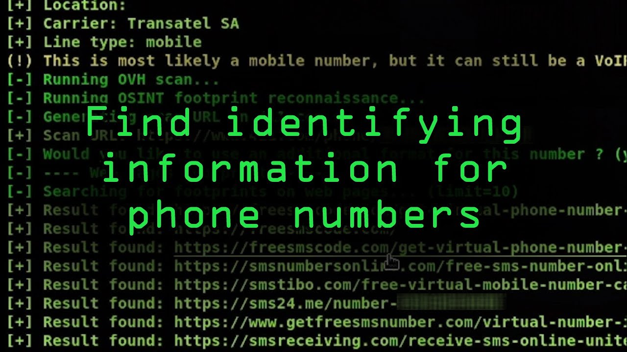 How to Find Identifying Information from a Phone Number Using OSINT