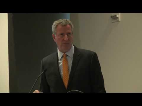NYC Mayor Bill de Blasio Remarks on Speed Cameras (from Vision Zero for Cities Conference)