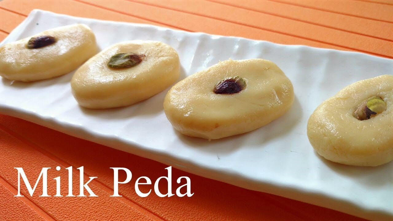 Milk peda recipe doodh peda recipe easy milk peda from milk powder