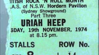 Uriah Heep - 1st Australian concert - Sydney 19 November 1974