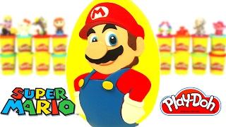 Huevo Sorpresa Gigante de Super Mario en Español de Plastilina Play Doh