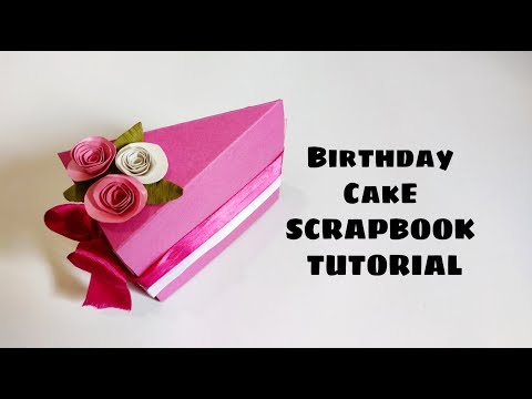Cake Slice Scrapbook Tutorial  | Paper Cake Scrapbook ( Requested video)