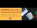 Webinar: Building a Communications Plan, Part 1: Strategic Planning
