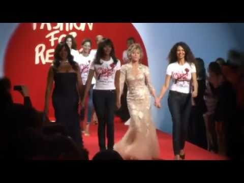 Naomi Campbell's Fashion For Relief at Cannes