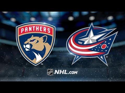 Florida Panthers Vs. Columbus Blue Jackets   NHL Game Recap   March 16, 2017
