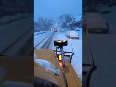 Ride with a snow plow in Harrisburg