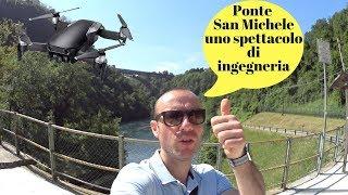 DJI MAVIC AIR VOLO AL PONTE SAN MICHELE A PADERNO D'ADDA UNO SPETTACOLO DI INGEGNERIA FOOTAGE ITA!