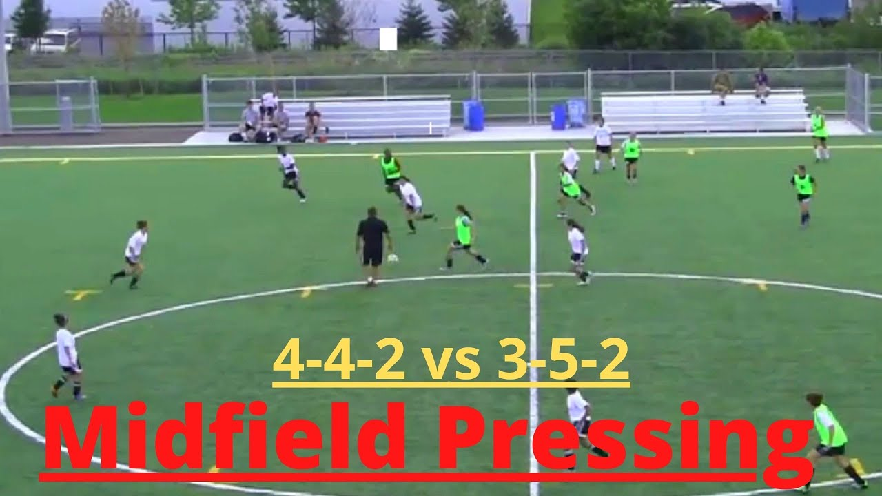 Midfield Pressing (4-4-2 vs 3-5-2 )