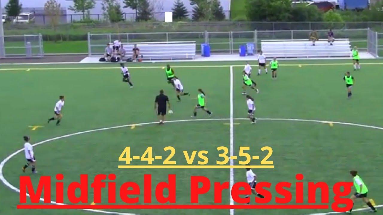 Midfield Pressing (4-4-2 vs 3-5-2 )