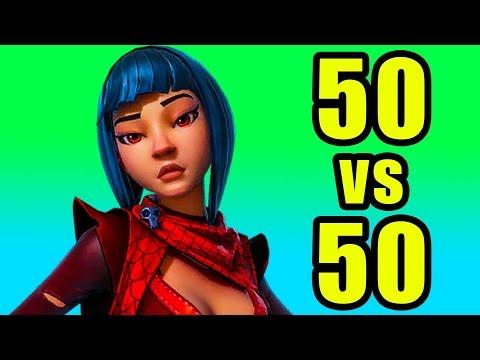 50v50 Mode! ? Fortnite BR New Update 50 vs 50 Gameplay thumbnail