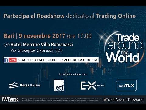 Trade around the World - Il Roadshow dedicato al Trading Online   Bari, 9 novembre 2017 FBLive