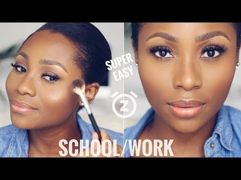 YOU CAN DO THIS IN 15 MINUTES!   EASY EVERYDAY,  SCHOOL/WORK  MAKEUP TUTORIAL   DIMMA UMEH