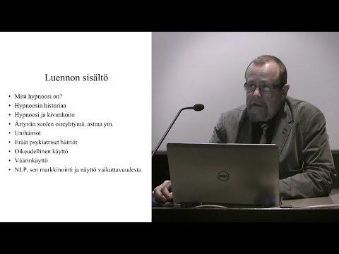 Hannu Lauerma: Hypnoosi ja NLP – mikä on totta, mikä tarua?