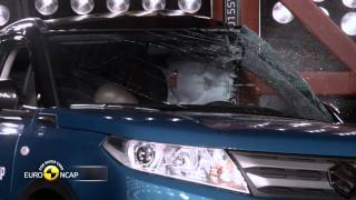 Euro NCAP Crash Test of Suzuki Vitara 2015(Euro NCAP frontal Impact takes place at 64 Km/h, 40% of the width of the car striking a deformable barrier. In the Full Width test, 100% of the width of the car the ..., 2015-04-27T07:30:33.000Z)