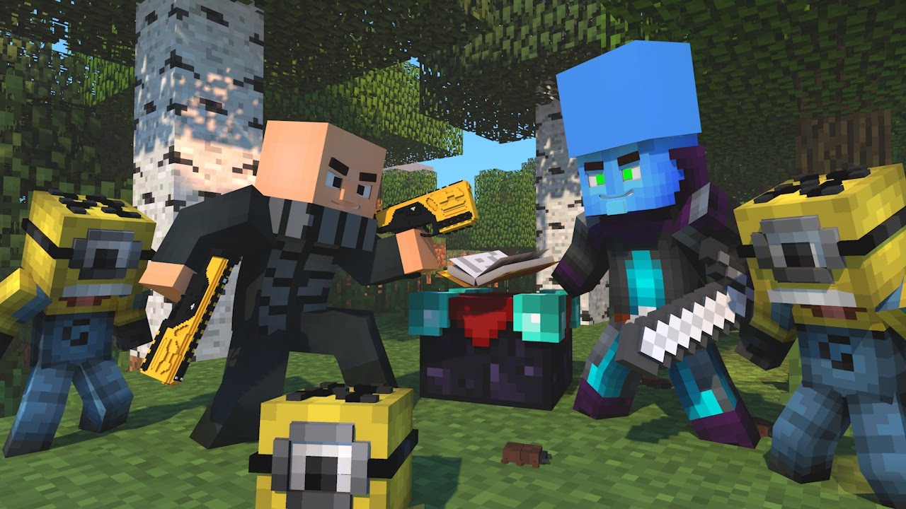 Minecraft: MINIONS VS MEGAMENTE & GRU - SURVIVAL LUCKY ...
