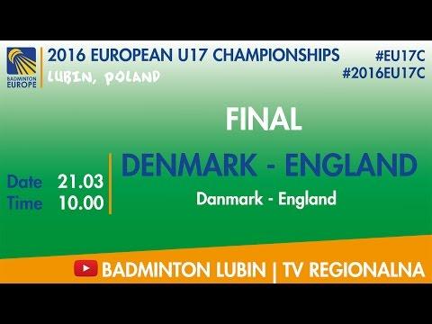 #2016EU17C Lubin - FINAL - DENMARK - ENGLAND