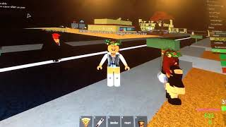 Playing Roblox with my friends