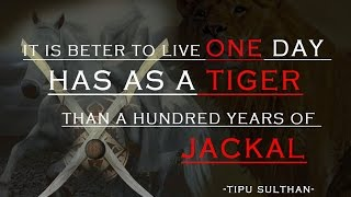 Tipu Sulthan - The tiger of mysore