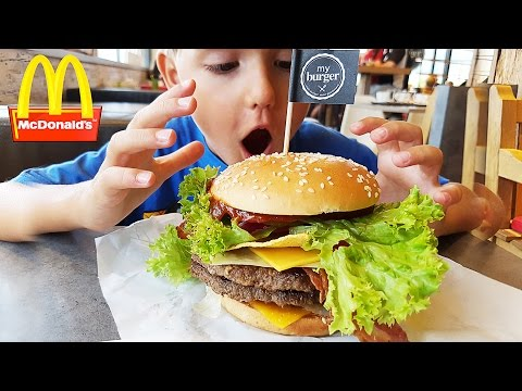 🍔 McDonald's Customized Burger - Eat What You Want 🍟