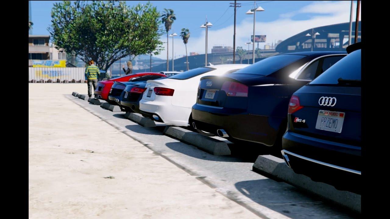 GTA V AUDI CARS MEET IN GTA YouTube - Audi car gta 5