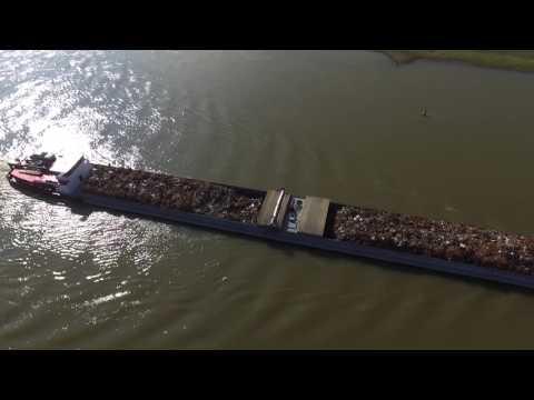Drone flight over IJssel,