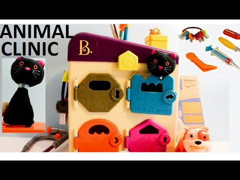 pet-vet-3d-animal-hospital-from-battat-b-toy-review,-unboxing-critter-clinic-kids-toy