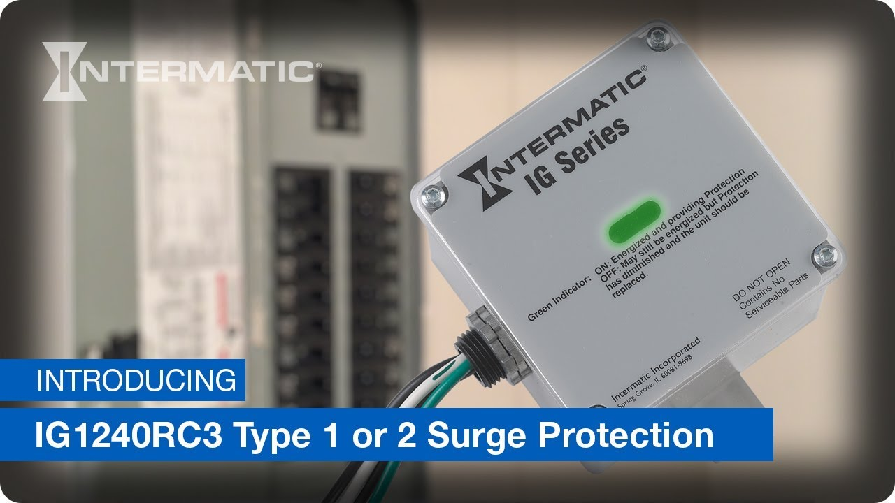 ig1240rc3 type 1 or 2 surge protective device
