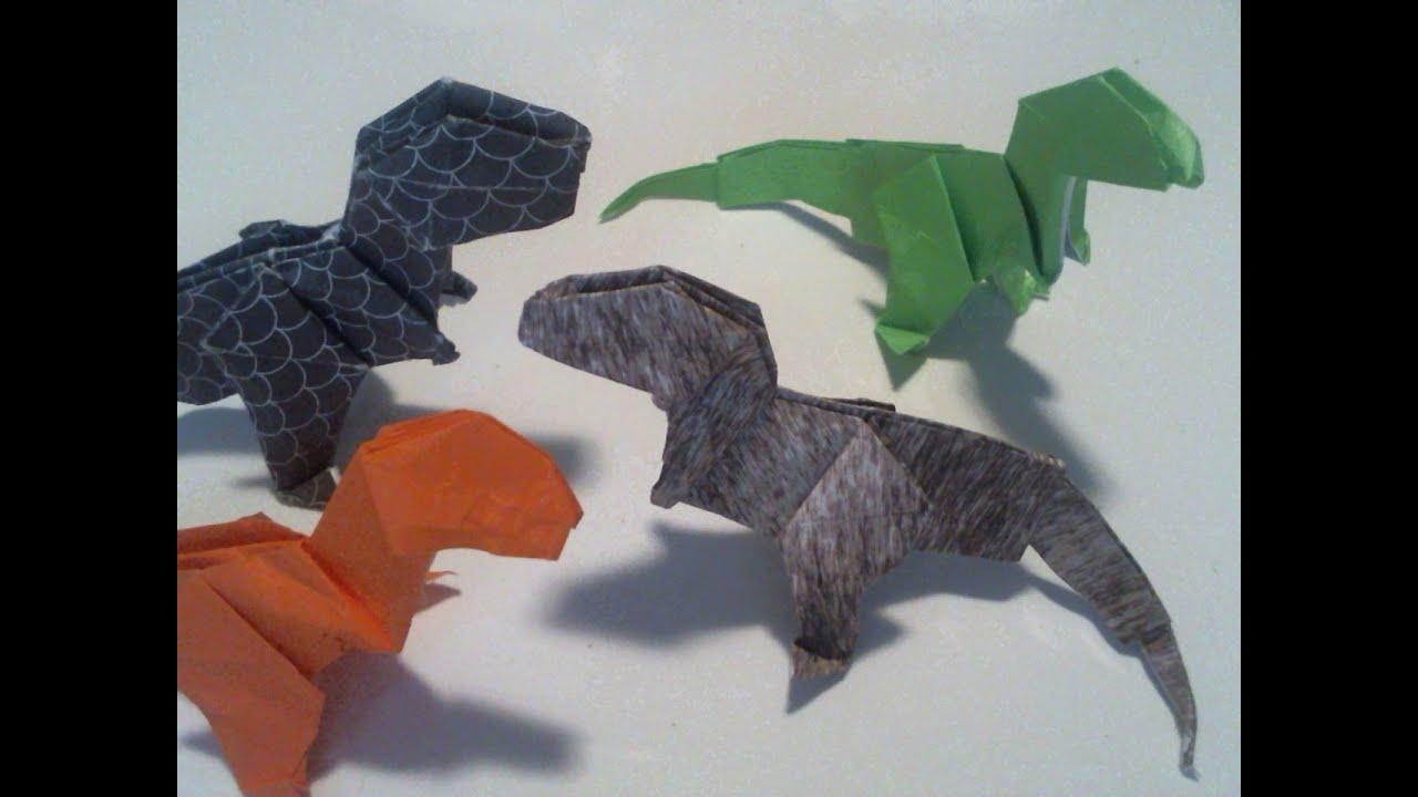 Origami T Rex Dinosaur Tyrannosaurus