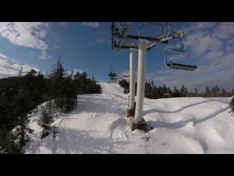 Jordan Bowl Express (and very fast ski down) - Sunday River, ME