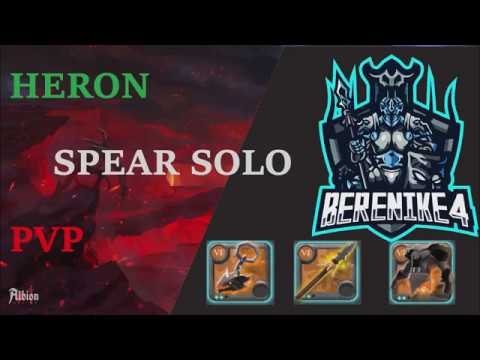 Albion Online - Berenike4 - Solo Heron spear - Solo pvp - Funny fight