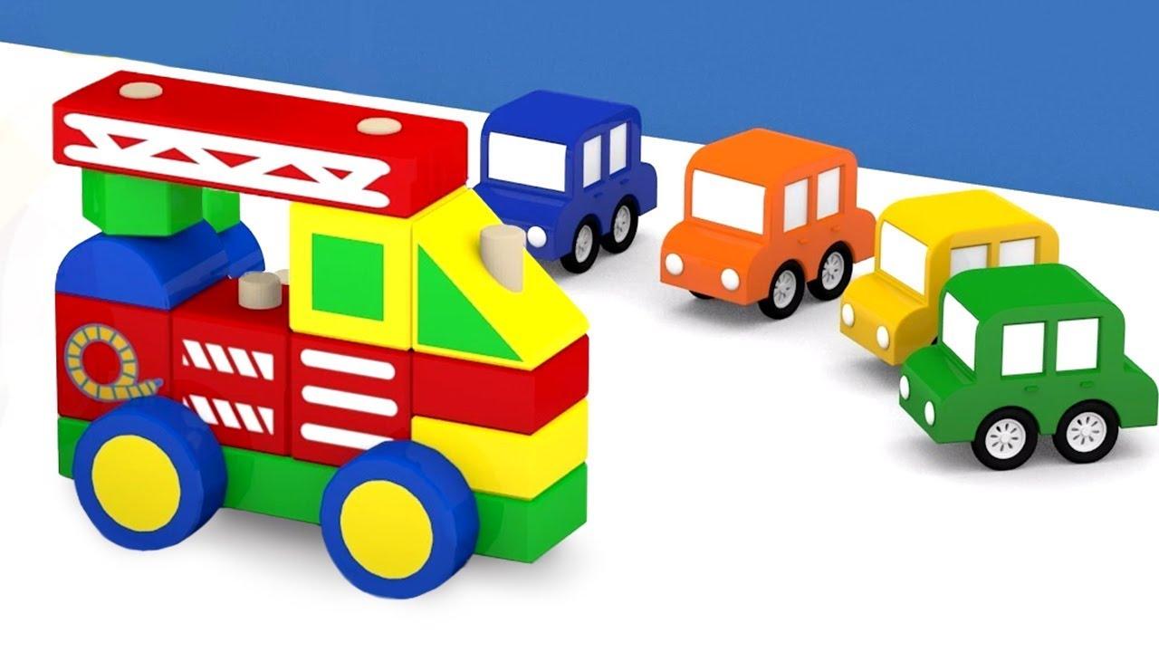 Dessin Animé éducatif Pour Enfants De 4 Voitures Un Camion De