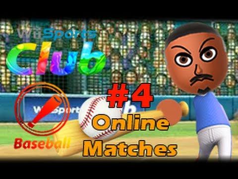 Wii Sports Club Wii U (1080p) Baseball Online Matches #4