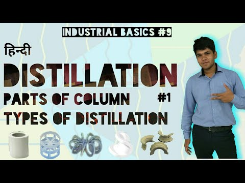 [Hindi] Distillation, Parts Of Distillation Column, Types Of Distillation #1