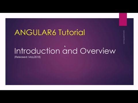 Angular 6 Tutorial   chapter 1   Introduction thumbnail